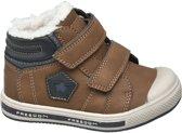Bobbi-Shoes Kinderen Bruine  sneaker warm gevoerd - Maat 22