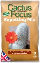 Cactus & Succulent Focus Repotting Mix - 2 liter potgrond voor een gezonde groei van cactussen en succulenten
