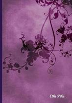 Ethi Pike - Purple Design Notebook / Extended Lines / Soft Matte Cover