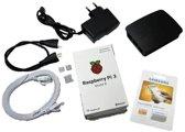 Raspberry Pi 3 starter kit met 16GB, voeding, behuizing, heatsink, HDMI- & netwerk kabel