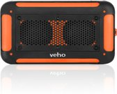 Veho VXS-002-ORG Vecto water resistant wireless speaker with integrated 6000mahphone/tablet charger- Sports Orange - Includes carry pouch Carabineer and 4GB