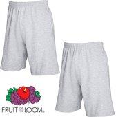 Fruit of the Loom (2 Pack) Korte Broeken Grijs Maat XXL