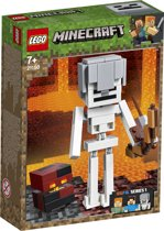 LEGO Minecraft BigFig Skelet met Magmakubus - 21150