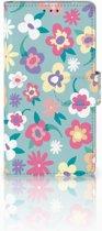 Sony Xperia Z Bookcase Design Flower Power