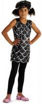 Zwart glitter pailletten jurkje voor meisjes 3-6 jaar