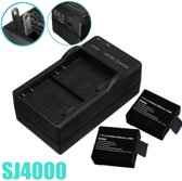 2 Dual Camera Battery Charger Travel Wall Adapter US For SJ4000 SJ5000 M10