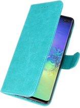 Samsung Galaxy S10 Plus Groen | bookstyle / book case/ wallet case Wallet Case Hoesje  | WN™