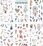 Set van 6 Stickervellen Dreamcatcher | Stickers van Dromenvanger en Veren voor in je Bullet Journal of Scrapbook