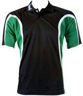 KWD Polo Fresco korte mouw - Zwart/groen/wit - Maat L