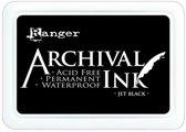 Archival Permanente Inkt Stempelkussen, Jet Black, Intens Zwart