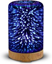 3D Aroma Diffuser/Nachtlamp, Luchtbevochtiger 100ml | Kleurrijke Led Verlichting | 5 Uur Sproei tijd | Aroma Vernevelaar | SensaHome Aroma 3D