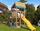 Houten Speeltoren voor Kleine Tuin - Jungle Home