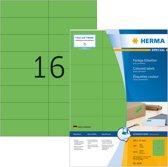 HERMA Etiketten groen 105x37 A4 1600 st.