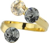 ARLIZI 1415 Ring Swarovski Kristal - Dames - 925 Sterling Zilver Verguld - 6 mm