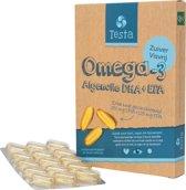 Testa Omega 3 Algenolie. Hoogste concentratie Vegan Omega 3 DHA + EPA. 60 Capsules Plantaardig