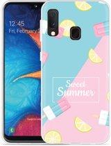 Galaxy A20e Hoesje Sweet Summer