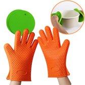 Siliconen hittebestendige Ovenhandschoenen - Pannenlappen - Pannen onderzetters - Handschoen