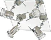 EGLO Tamara Plafondspots - 4 Lichts - Nikkel-Mat, Chroom
