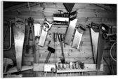 Plexiglas –Gereedschap in de Werkplaats– 90x60cm (Wanddecoratie op Plexiglas)