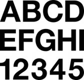 Plakletter/Plakcijfer zwart 150mm
