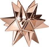 Bloomingville - Kandelaar 3D Ster - Keramiek - Koper - L12,4xH11,6xB13 cm