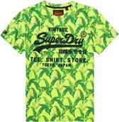 Superdry Shirt - Maat M  - Mannen - lime groen/groen