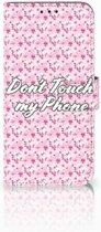 Nokia 8.1 Uniek Boekhoesje Flowers Pink DTMP
