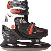 Nijdam 3007 Junior IJshockeyschaats - Verstelbaar - Hardboot - Zwart - Maat 34-37