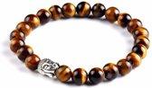 armbandjesdirect - Buddha tijgeroog armband