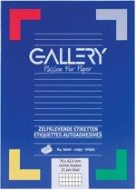6x Gallery witte etiketten 70x42,3mm (bxh), rechte hoeken, doos a 2.100 etiketten