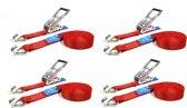 JUMBO heavy duty spanbanden 4 x 9m 50mm met ratel en haken 2000/4000 KG