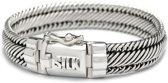 SILK Jewellery - Zilveren Armband - Weave - 733.19 - Maat 19
