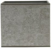 Lampenkap vierkant grijs zilver velours grijs print 20-20-18