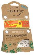 Parakito Kids Anti-Muggen Armband Orange Kaketoe + 2 navullingen