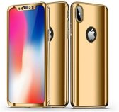 Teleplus iPhone XS Mirror 360 Hard Cover Case Gold hoesje