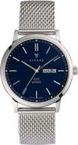 Renard Elite Day Date Blue Milanese Silver RD381SS40MSS - Horloge - Staal - Zilver - 38,5mm
