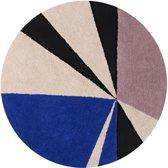 Lorena Canals - Vloerkleed rond Geometric - blue