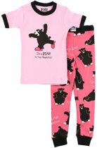Kinderpyjama LazyOne Bear in the Morning roze met bedrukte broek - 98