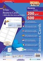 3x Decadry visitekaarten MicroLine 85x54mm, 200 g/m², 500 kaartjes
