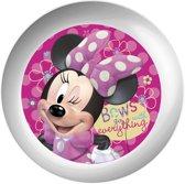 Disney Bordje Minnie Mouse Melamine 22 Cm Wit