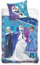 Disney Frozen - Dekbedovertrek - Eenpersoons - 140x200 cm + 1 kussensloop 70x80 cm - Blue