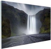 Waterval Glas 120x80 cm - Foto print op Glas (Plexiglas wanddecoratie)