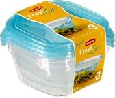 Curver Fresh&Go Vershouddoos - 3x0,25l - Transparant /Precious Blauw