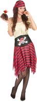 Gestreept tweekleurig piraten kostuum voor vrouwen - Volwassenen kostuums