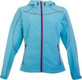 Icepeak Sava Softshell Jas Dames  Sportjas - Maat XL  - Vrouwen - blauw/rood