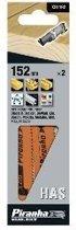 """Piranha Reciprozaagblad Hout met spijkers, fijn, recht, """"SUPER"""" kwaliteit, 2,5mm tandsteek -2 stuks-, 152mm X21192"""