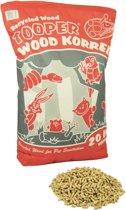 Wooper Tooper Houtkorrel - bodembedekker en kattenbakvulling - 20Ltr
