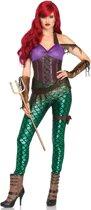 Rebel Mermaid kostuum - S - Multicolours - Leg Avenue