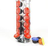 Vannons - Dolce Gusto Capsulehouder - Metaal - Standaard voor Dolce Gusto Koffie cups - 360 Draaibaar Roterend - 24 Capsules Houder - Zilver