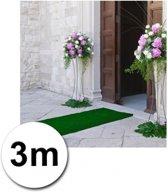 3 meter groene loper 1 meter breed